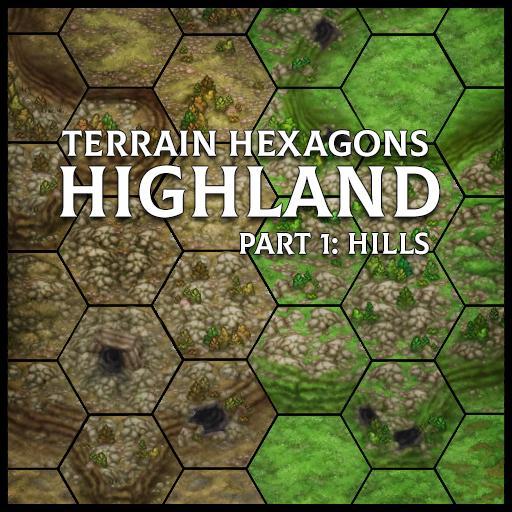 Terrain Hexagons: Highland (Hills)