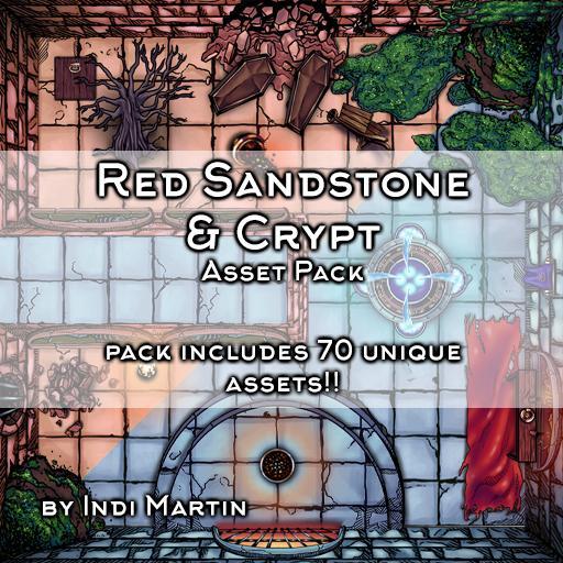 Red Sandstone & Crypt Asset Pack