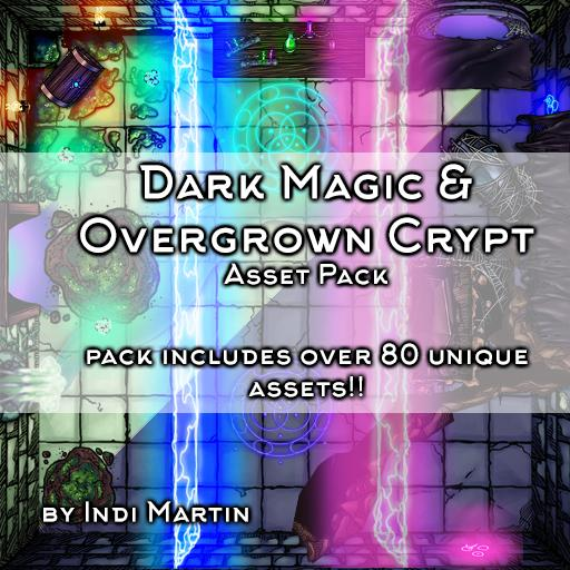 Dark Magic & Overgrown Crypt Asset Pack