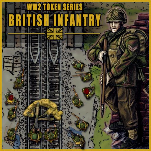 British WW2 Infantry Token Set