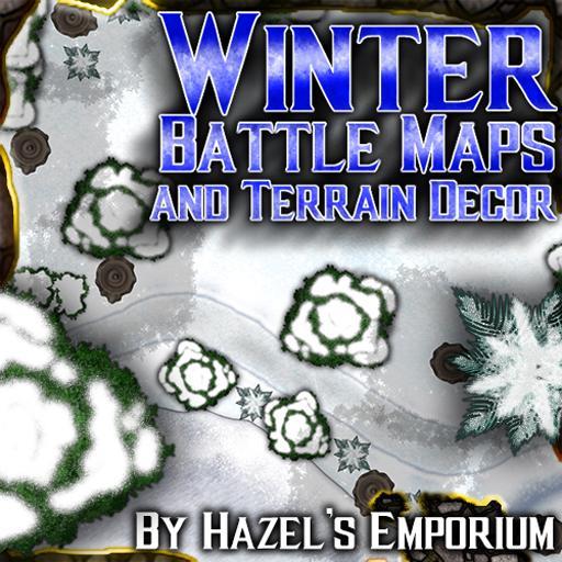 Winter Battle Maps and Terrain Décor