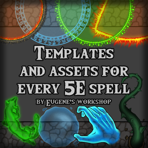 Templates and Assets for every 5E Spell
