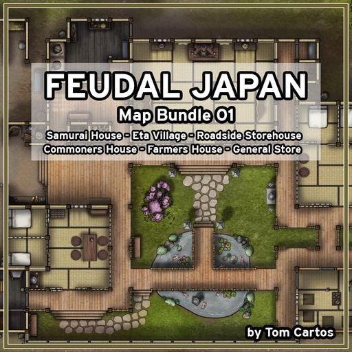 Feudal Japan Map Bundle 01