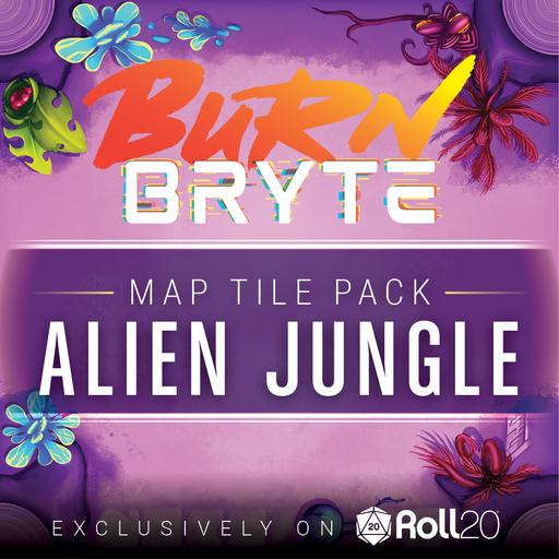 Burn Bryte Map Tiles - Alien Jungle