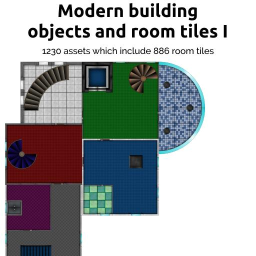 Modern building objects and room tiles I
