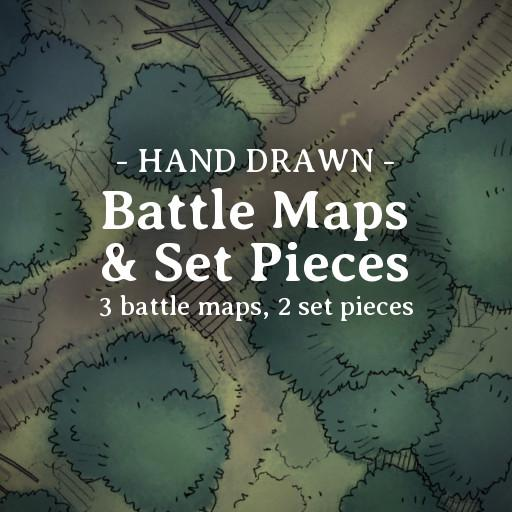 Hand Drawn Battle Maps Pack 1