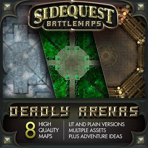 Sidequest Battlemaps: Deadly Arenas