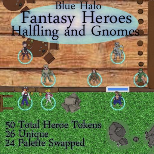 Blue Halo Fantasy Heroes Gnomes and Halflings