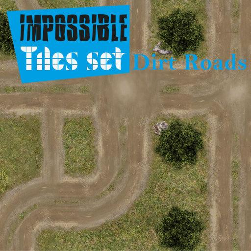 Impossible Tiles Set: Dirt Roads