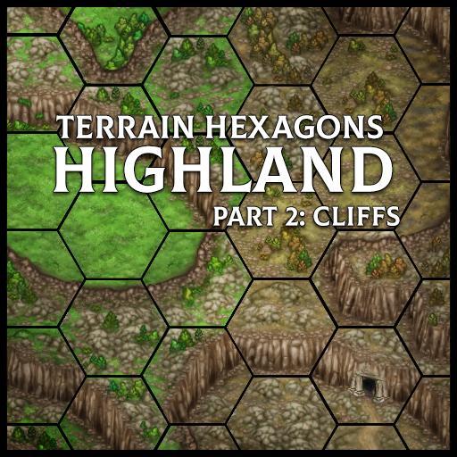 Terrain Hexagons: Highland (Cliffs)