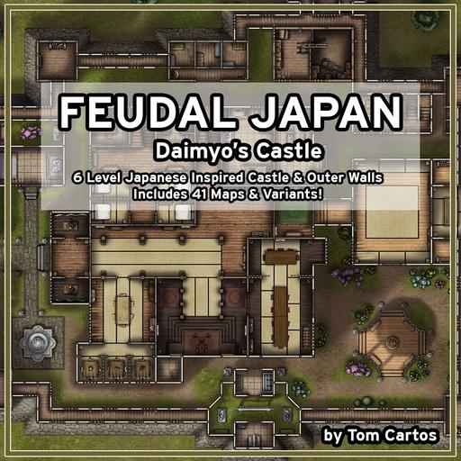 Feudal Japan Daimyo's Castle Map Bundle