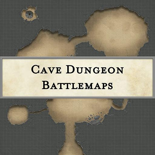 Cave Dungeon Battlemaps