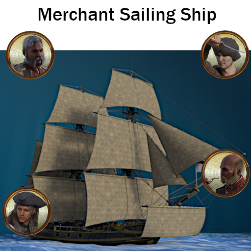Merchant Sailing Ship Set