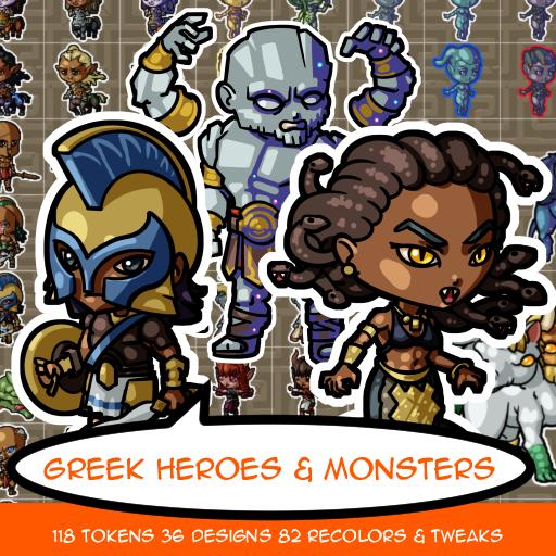 Greek Hero and Monster Tokens