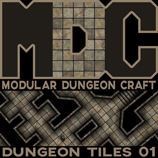 Modular Dungeon Craft, Dungeon Tiles 01