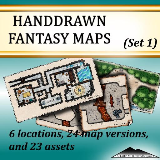 HANDDRAWN FANTASY MAPS (Set 1)