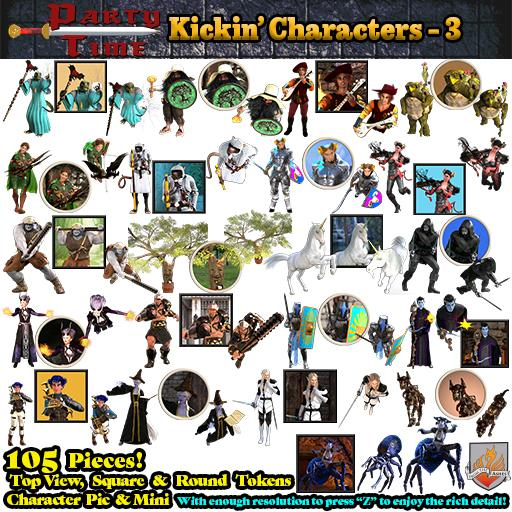 Party Time - Kickin' Characters Pack 3