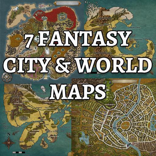 7 Fantasy City & World Maps