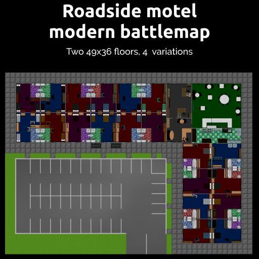 Roadside motel modern battlemap
