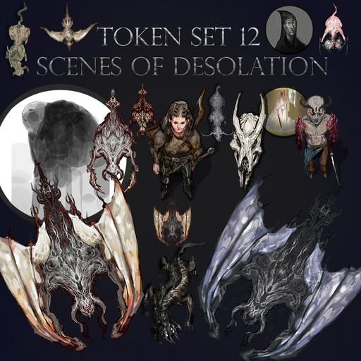 Token Set # 12 Scenes of Desolation