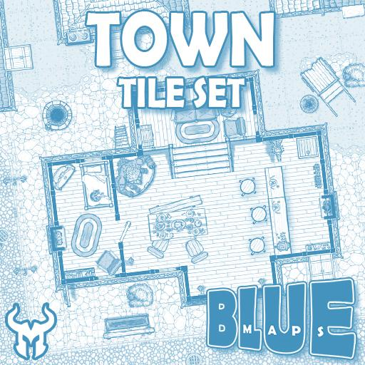 Blue Maps: Town Tile Base Set