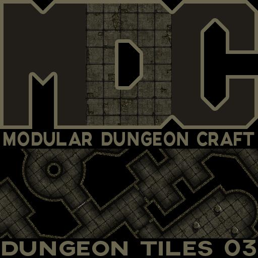Modular Dungeon Craft, Dungeon Tiles 03