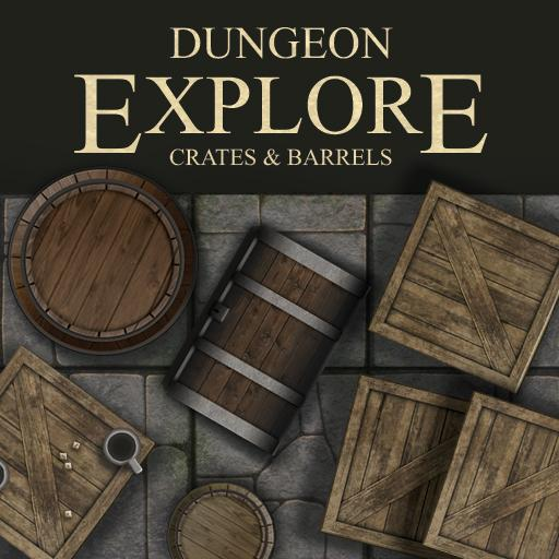 Dungeon Explore - Crates And Barrels