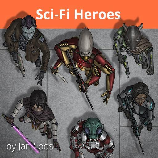 Jans Token Pack 20 - Sci-Fi Heroes 1