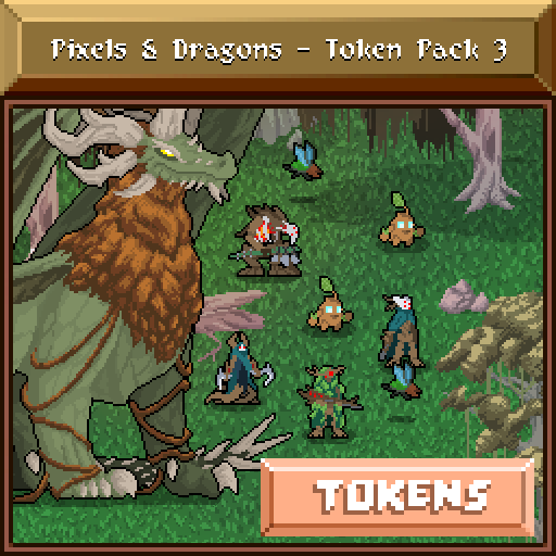 Pixels and Dragons - Token Pack 3