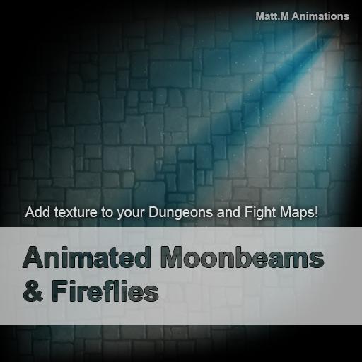 Animated Moonbeams & Fireflies