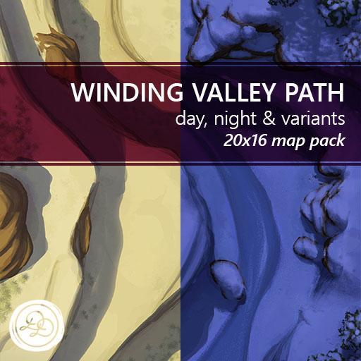 Winding Valley Path Battlemaps