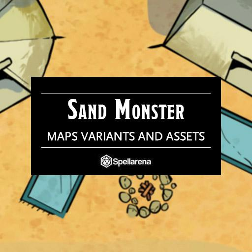Sand Monster Map and Assets Pack
