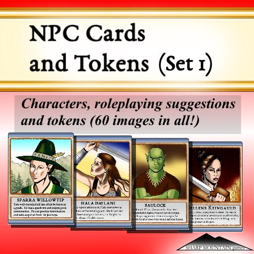 NPC CARDS AND TOKENS (Set 1)