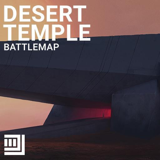 Desert Temple Battlemap