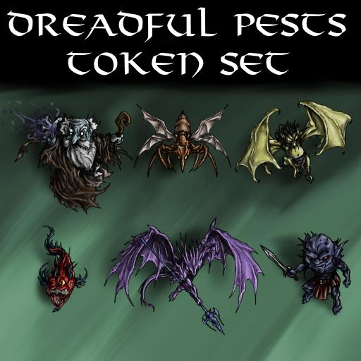 Dreadful Pests Token Set