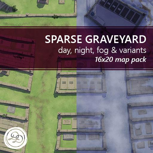 Sparse Graveyard Battlemaps