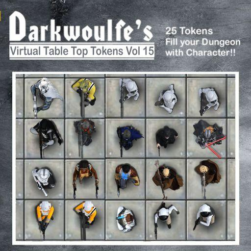Darkwoulfe's Token Pack Vol15: Space Saga