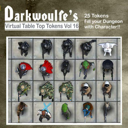 Darkwoulfe's Token Pack Vol16: Space Saga