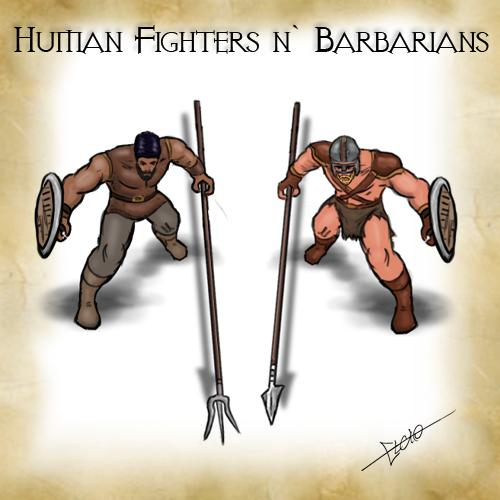 Human Fighter and Barbarians Pack