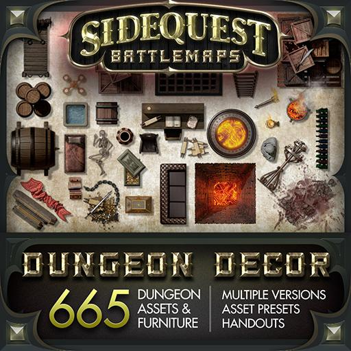 Sidequest Battlemaps: Dungeon Decor
