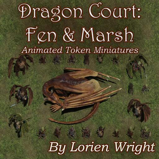 Animated Token Miniatures: Dragon Court Fen And Marsh