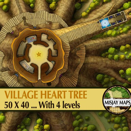 Forest Village Heart Tree