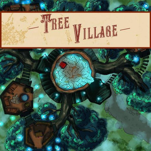Tree Village Battle Map
