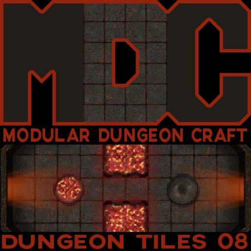 Modular Dungeon Craft, Dungeon Tiles 08