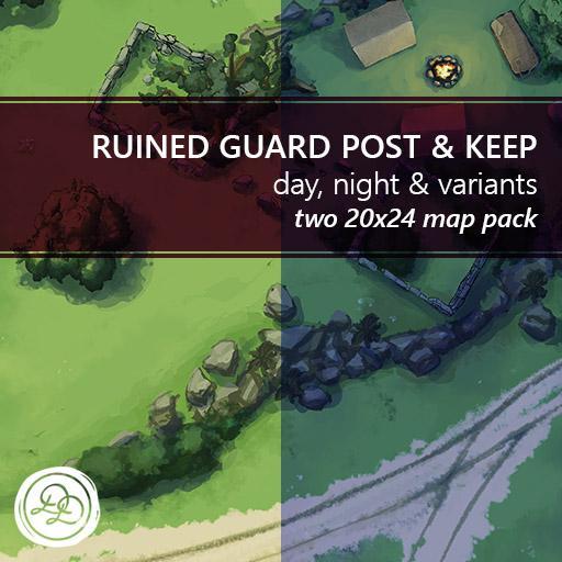 Ruined Guard Post & Keep Battlemaps