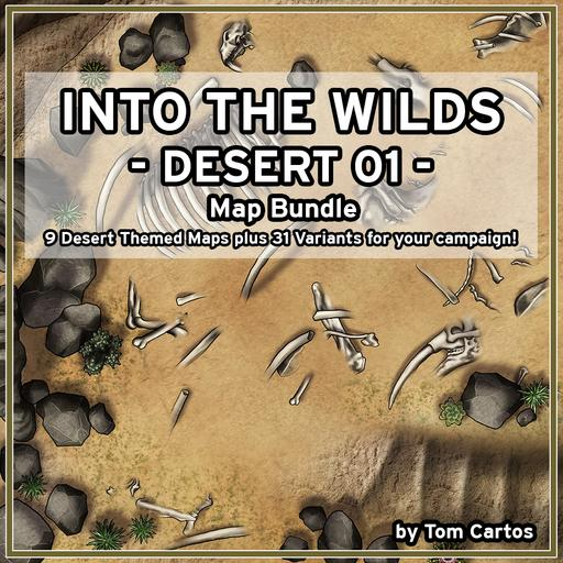 Into the Wilds Desert 01 Map Bundle