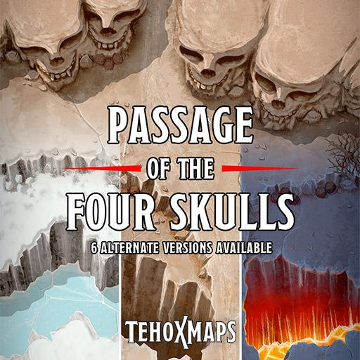 Passage of the Four Skulls battlemap
