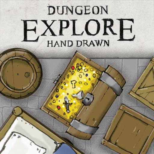 Dungeon Explore - Hand Drawn Tiles and Components