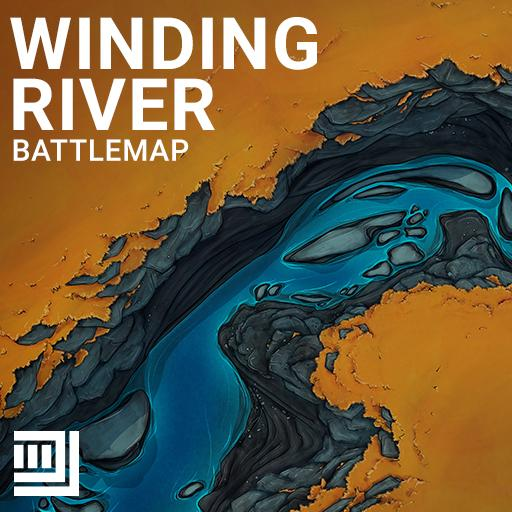Winding River Battlemap