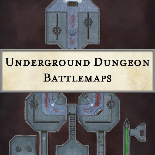 Underground Dungeon Battlemaps